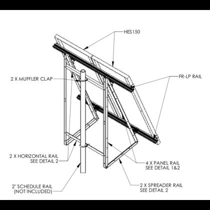 Adjustable pole mount